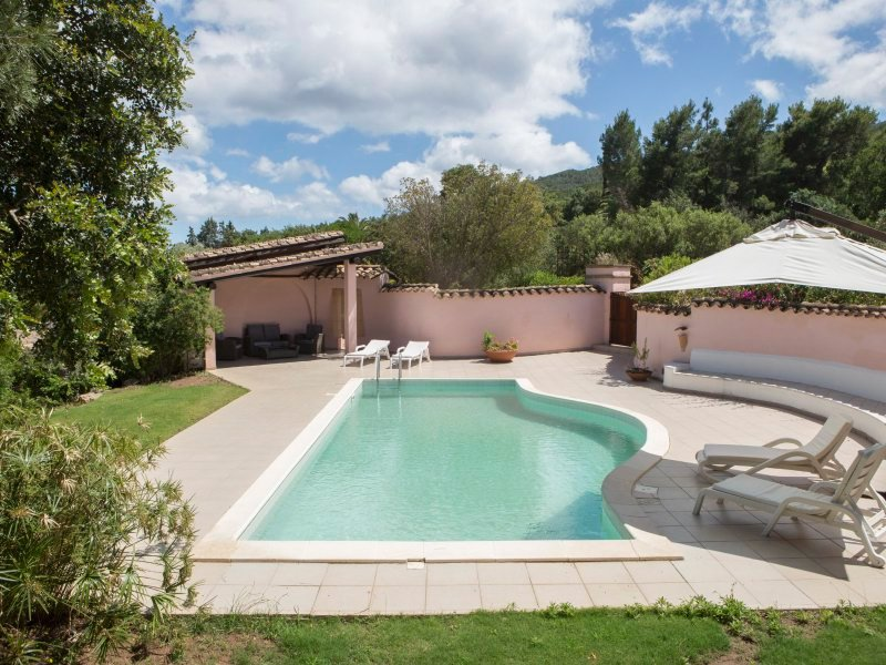Privater Pool der Villa