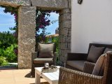 Outside sofa with view