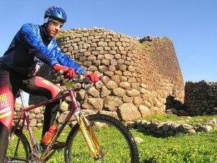 Mountanbiking near Nuraghe Losa